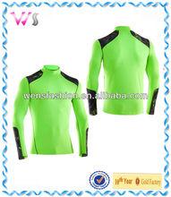 Neon yellow Printed dri-fit long sleeve t-shirt