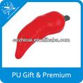 customed pu chili pepper brinquedos em forma de pimenta decoração espuma esponja brinquedos chili enlatado aperte bola brinquedo promocionais dom