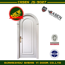 100% solid Arched entry wood door
