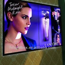 perfume advertising crystal led light box