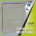 baratos tecido poliéster cobertores de companhias aéreas para venda fabricante chinês descartáveis cobertor da linha aérea