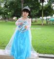 Elsa congelado vestido de princesa elsa traje de vestido de las niñas/hermana anna vestido de traje de/traje de cosplay en congelados