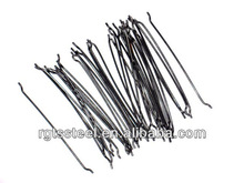 end hook steel fiber, Hooked end steel fiber used in concrete floor