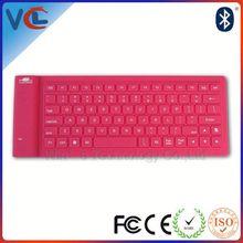 bluetooth slim computer silicon keyboard