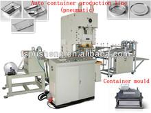 Manufacturing pneumatic aluminum foil three compartments container making machine