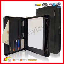 Leather portfolio ,padfolio case with notepad holder,leather portfolio case for ipad