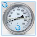 de alta calidad de acero inoxidable de alta industrial termómetro de la temperatura