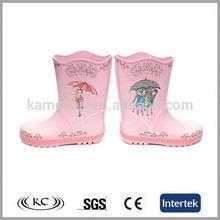 Lovely sunflower light pink boots rain for kids