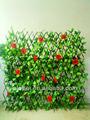 china baratos atacado decorativas artificial folha cerca com flor rosa