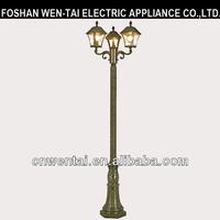 Foshan clear glass antique garden electric lighting poles