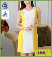 Hot Popular Contrast Color Fitting Back Zipper Chiffon wholesale clothing market