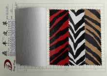 2014 Fashion Zebra Printed pvc leather for bags