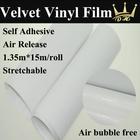 Hot Sell High Quality/Many Colors velvet Car Vinyl Wrap/color Velvet Paper