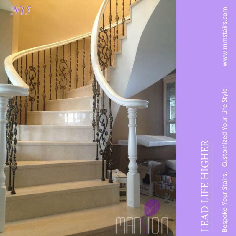 Casa de lujo de caracol escalera para m rmol escaleras - Escaleras de casas de lujo ...