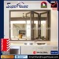 caliente productos plegables de aluminio de la ventana de aluminio de las ventanas y las puertas de cumplir con as2047 as2208 as1288
