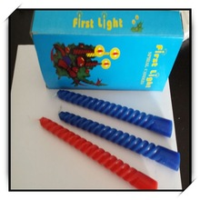 2014 Hot sale Machine making colored Spiral candle,different type with colored holders