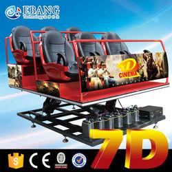 Exciting 7d cinema for sale 7d simulator 7d cinema equipment with 6-dof platform motion