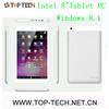Winddows 8.1 8 inch tablet pc Intel Z3735G Baytrail-T Quad-core 2.0M+5.0M cameras