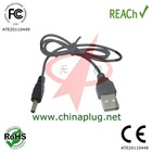 6v usb dc jack cable usb charger cable to dc 3.5 mm jack