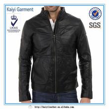 men leather motorbike jacket wholesale ,black custom men coat