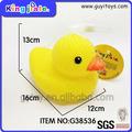 Banho brinquedo bonito do bebê pato de borracha amarelo