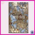 احباط الفضة الحديثة الفاخرة الضوء الأزرق زهرة قماش الفن الصور، جميع باليد، hf-1403445-1