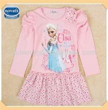 (H5306) NOVA children fancy dresses latest cotton frock design for kids frozen elsa dress wholesale