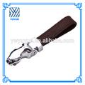 Haute Qualité vente en gros cuir noir la corde clé léopard tête de voiture Métal Key Chain For All voiture