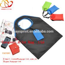 hook foldable shopping bag, thick nylon bags handbag ,portable bag