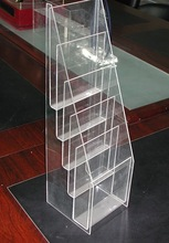 5 tiers brochure holder-y1308205/A4 paper holder/clear perspex pamphlet display