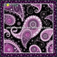 Fashionable Printed Purple And Black Silk Bandana