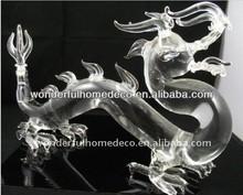 glass dragon bottle/750ml glass wine bottles wholesale