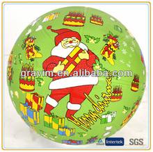 Happy Christmas Santa Claus rubber basketball size 7