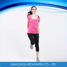 Single Color Summer Casual 100% Cotton T-shirt