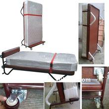 Standard Metal Hotel extra beds/rollaway hotel beds/Hotel Single Beds/Single Metal Beds frame with wheels FB-09
