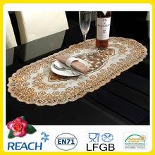 oval vinyl lace placemats