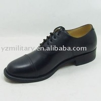 Cow leather oxford style pearly shining military gear man shoes