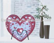 Melamine heart shaped plates