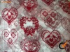 flocking organza for widely usages for parties' decoration