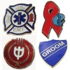 Custom lapel pins with soft enamel and hard enamel color