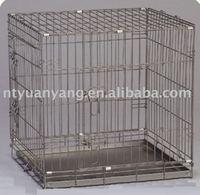foldable expanded metal dog cage kennels in sliver color