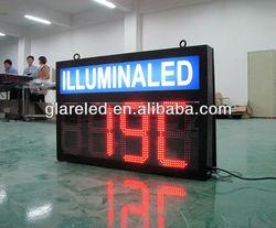 LED clock and temperature digital display