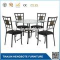 2012 hot salling lousa de vidro e metal mesa de jantar e cadeira