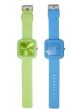 Square silicone watches