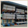 Lateral dobro de aço cantilever rack, tubulação de aço de armazenamento rack sistema