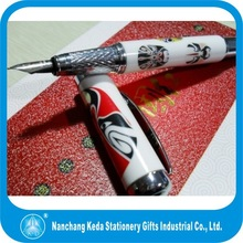 Metal China Porcelain Gift RollerPen Fountain art Pen