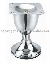 RS0707 Decorative Glass Chrome furniture legs