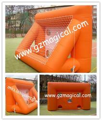 inflatable football shooting,/outdoor kids shooting game