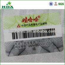 self adhesive and plastic anti-fake labels