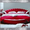 de cuero moderno king size cama redonda